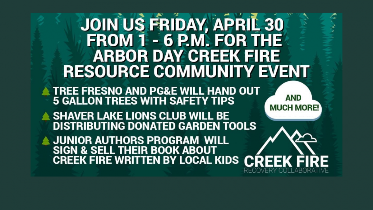 Creek Fire Resource Arbor Day Event
